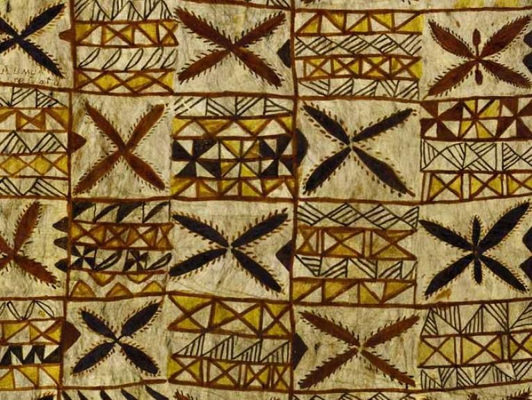 Siapo mamanu (tapa cloth), 1890s, Samoa, maker unknown. Gift of Alexander Turnbull, 1913. Te Papa (FE000825)
