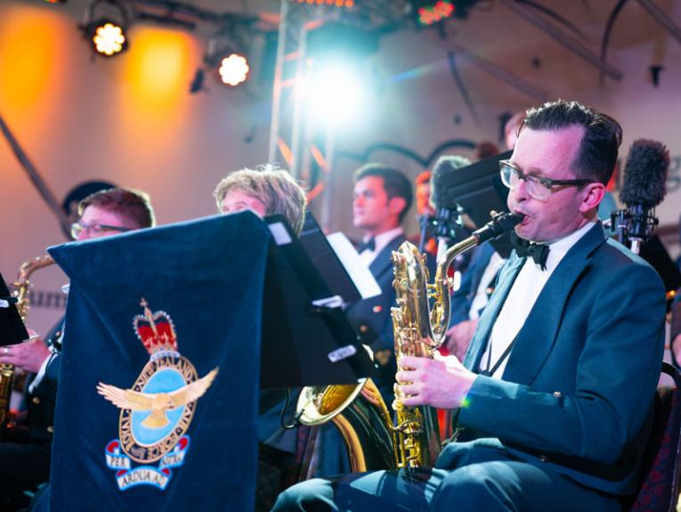 Royal New Zealand Air Force Band playing a concert