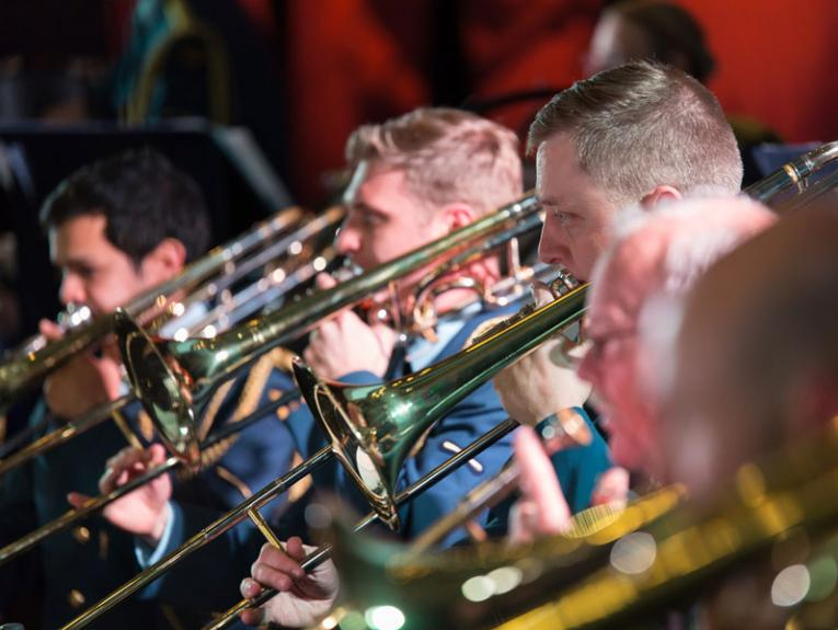 Musicians playing brass