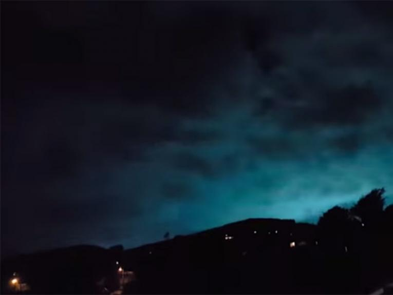 Earthquake lights over Wellington, 14 Nov 2016