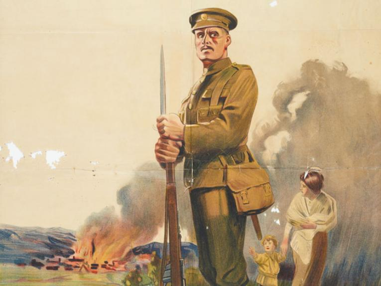 Detail from poster picture a soldier