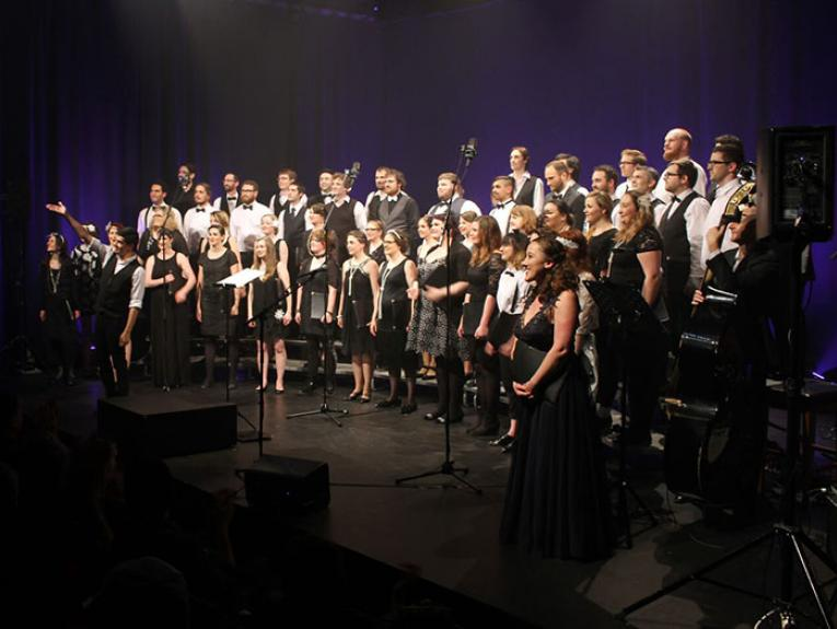 Supertonic Choir on stage