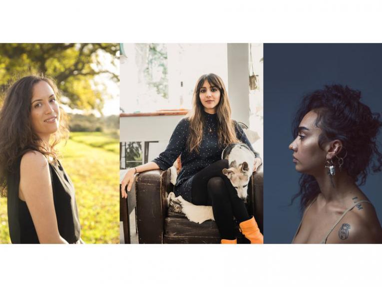 Three portraits of three women