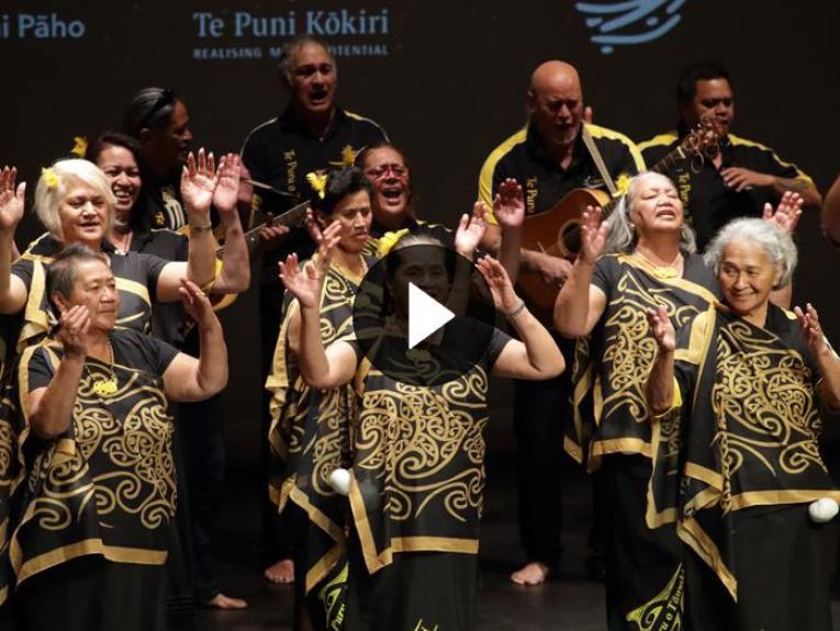 Te Puru o Tamaki performing at the Kaumātua Kapa Haka