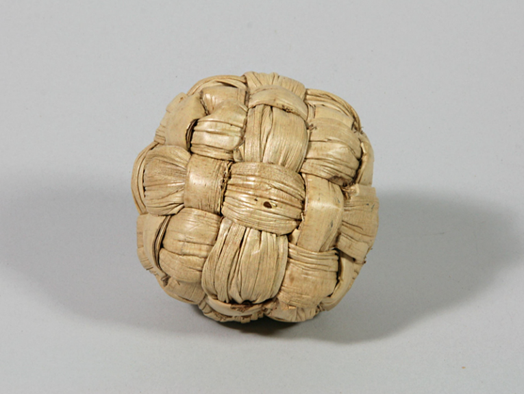 A ball woven with pandanus leaves