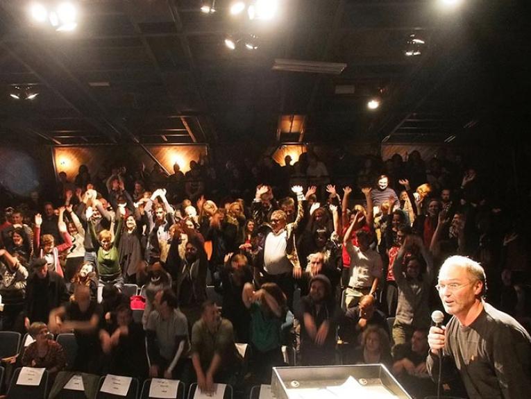 An audience at PechaKucha. Photograph by and courtesy of PechaKucha Night Wellington