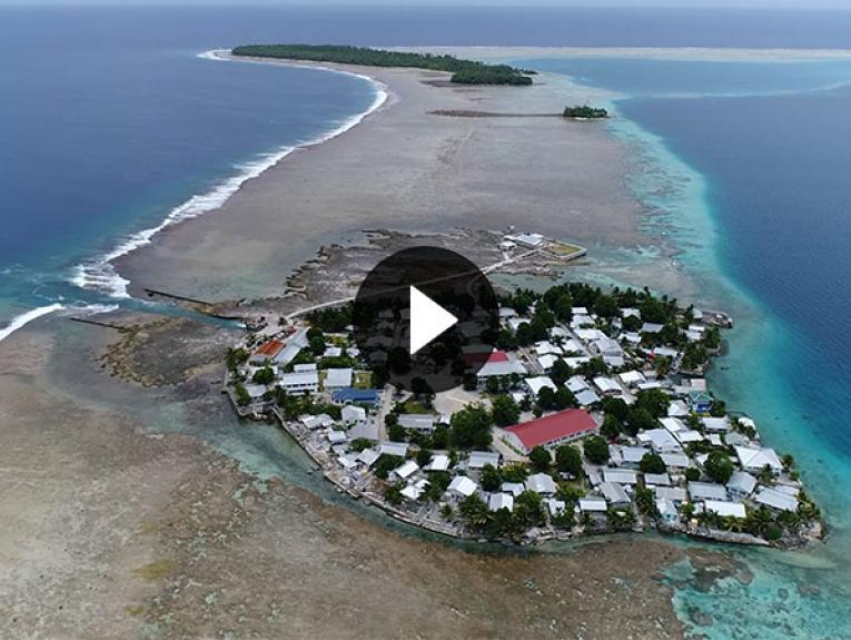 Aerial still of Tokelau