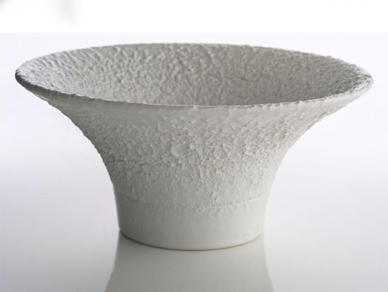 Textured white bowl