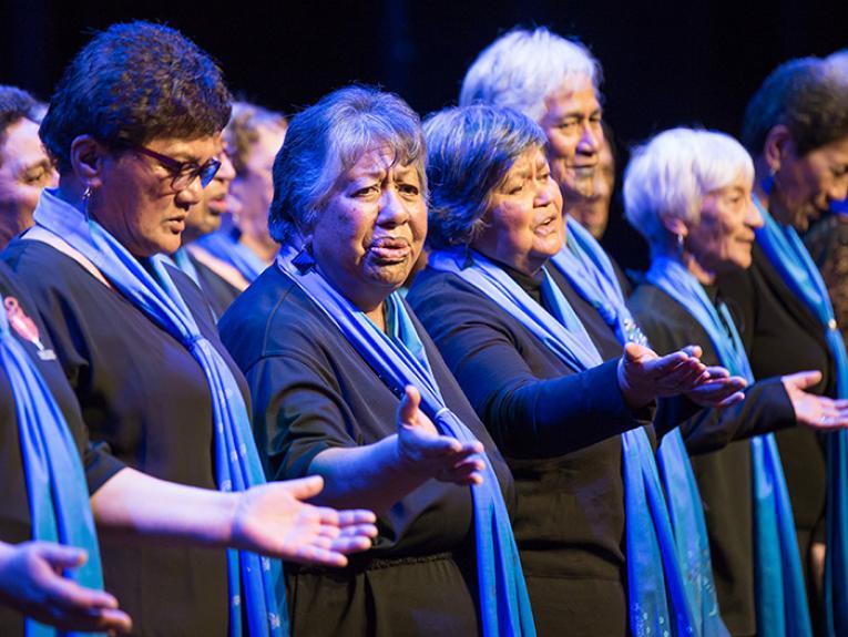 Ladies singing and dancing