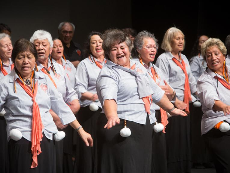 Kaumatua Kapa Haka performance at Te Papa's Matariki Festival