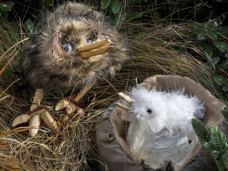 Kiwi puppets