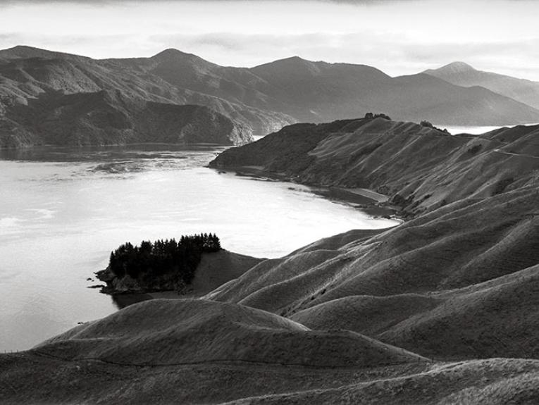 Black and white photograph of French Pass, Marlborough