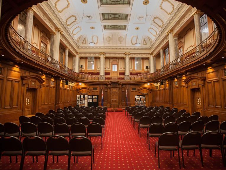 Inside the Legislative Council Chamber