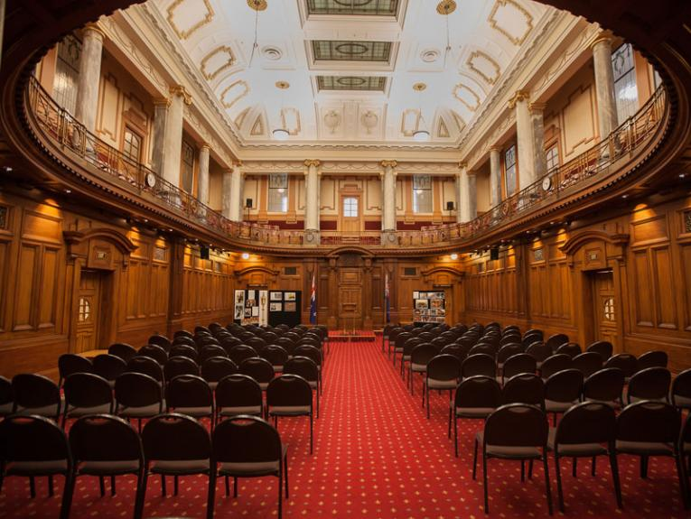 Inside the Legislative Council Chamber
