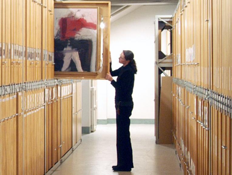 Art Storeroom. Photograph by Michael Hall. Te Papa