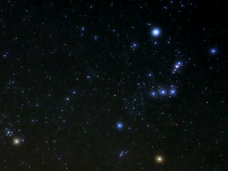 Puanga in the night sky (the brightest star in the photograph)