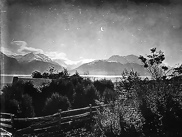 The New Moon over the mountains