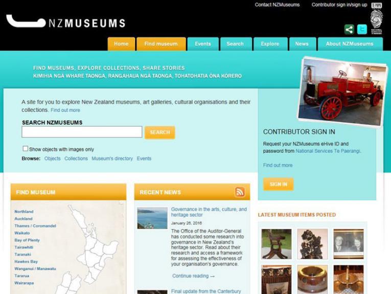 NZMusuems website