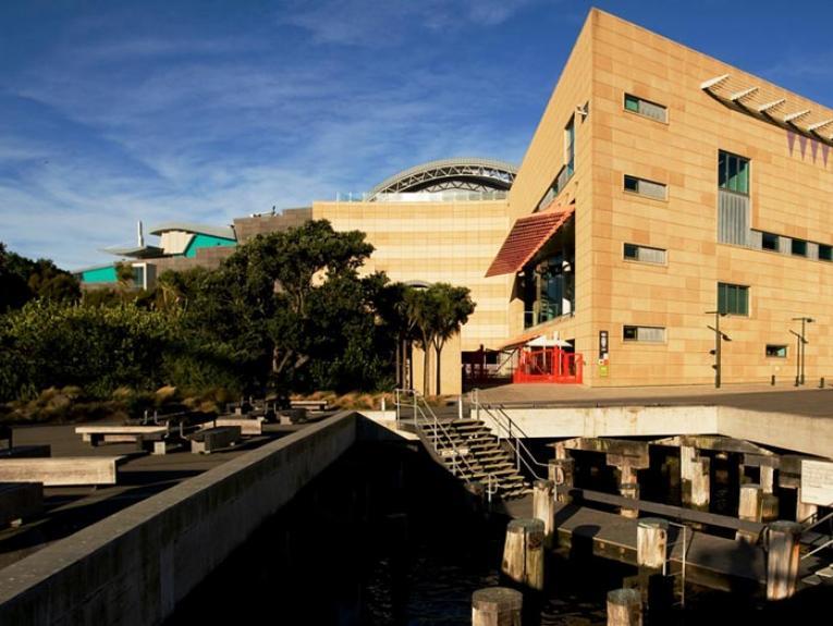 Te Papa External View. Photograph by Michael Hall. Te Papa