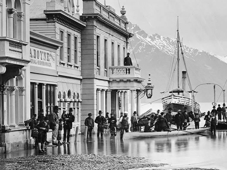 Queenstown flooded 1878