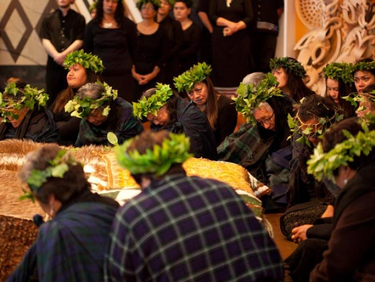 Repatriation ceremony, 2012. Photograph by Michael Hall. Te Papa
