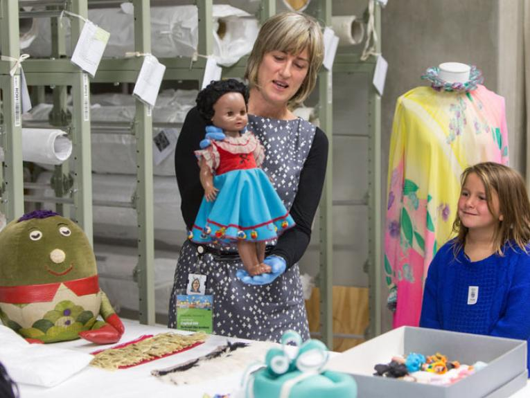 Manu from Playschool. Cable Street Open Day, 2015. Photograph by Michael Hall. Te Papa