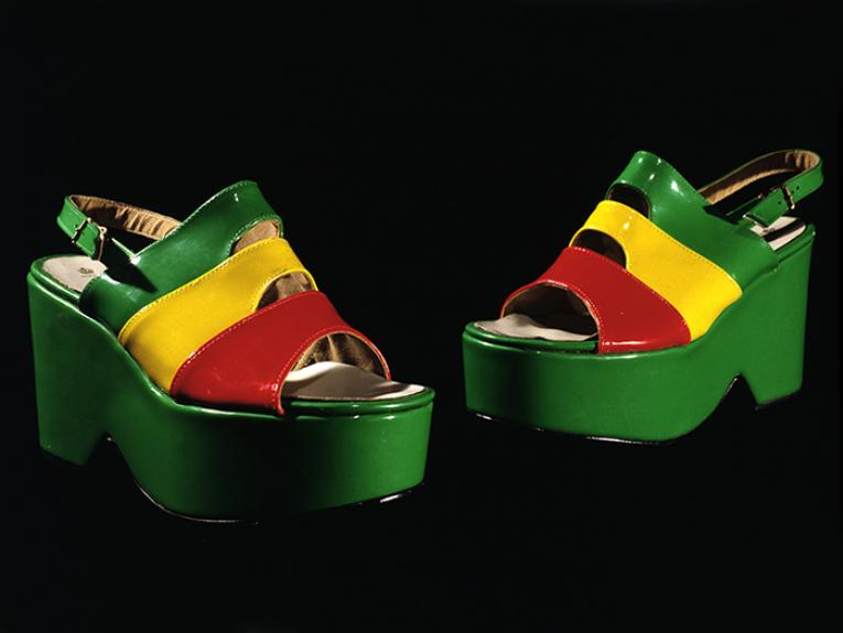 Colourful ladies platform shoes