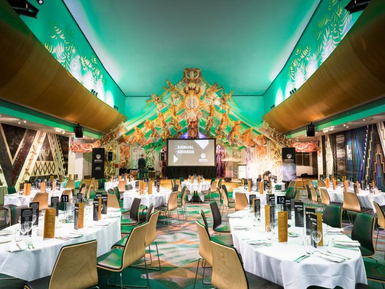 Te Marae function venue set up for event