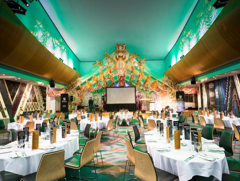 Venue set out for dinner
