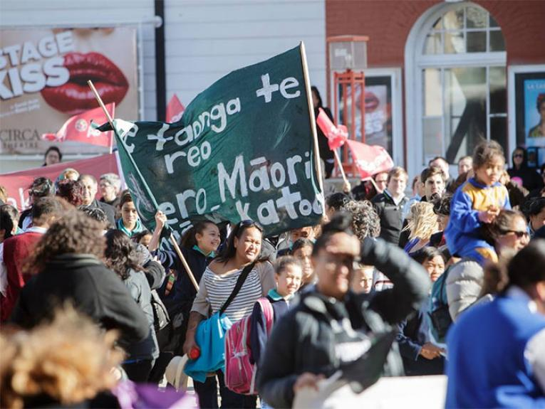 Procession for Māori Language Week