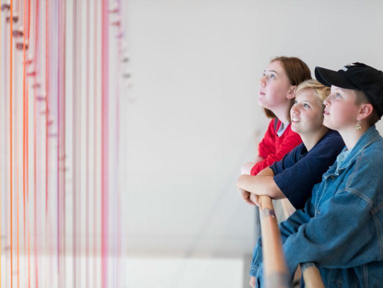Teenagers in the art gallery