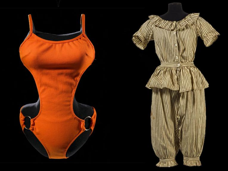 Swim suits from different eras