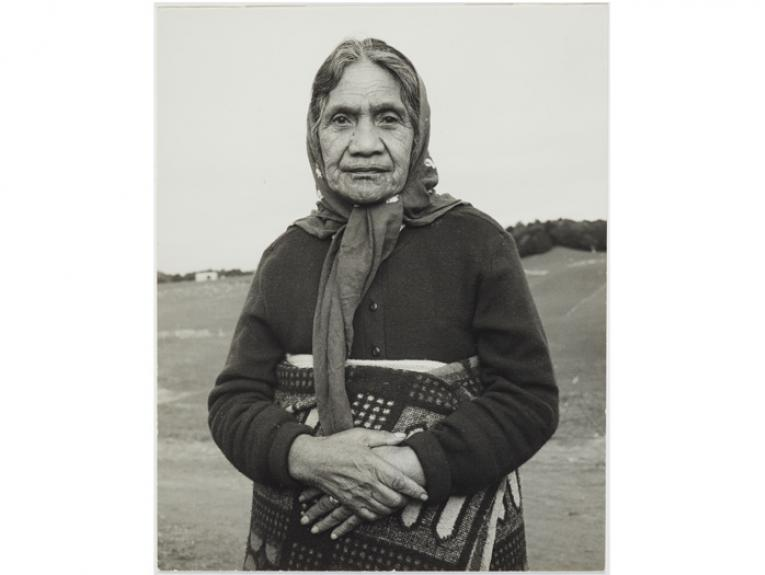 Herepo Rongo. From the series: The Moko Suite, 1970, New Zealand, by Marti Friedlander