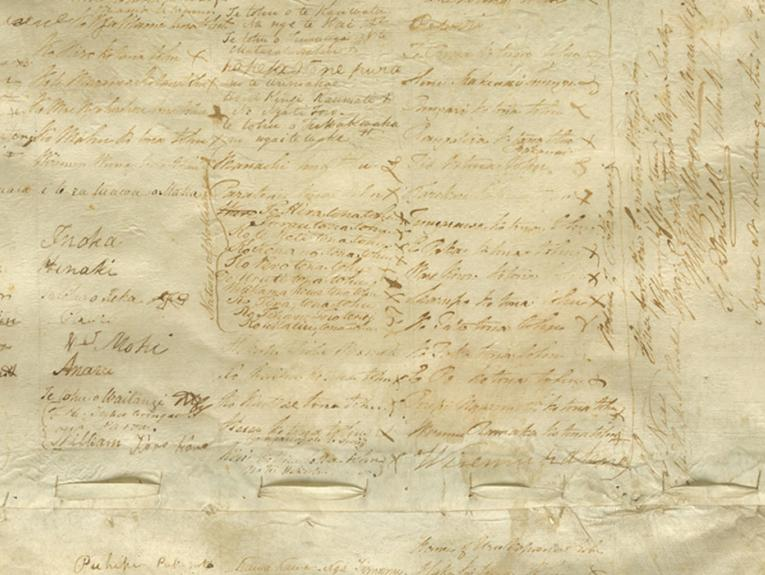 Section of the english copy of the Treaty of Waitangi