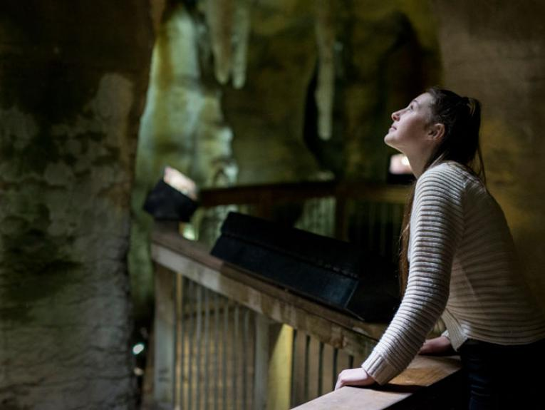 Young woman in Bush City cave