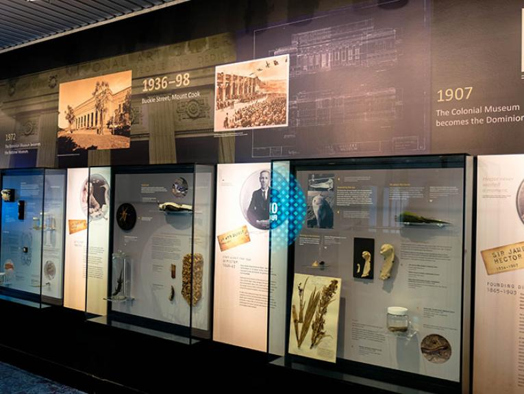 Display cabinets featuring items from the You Called Me What exhibition