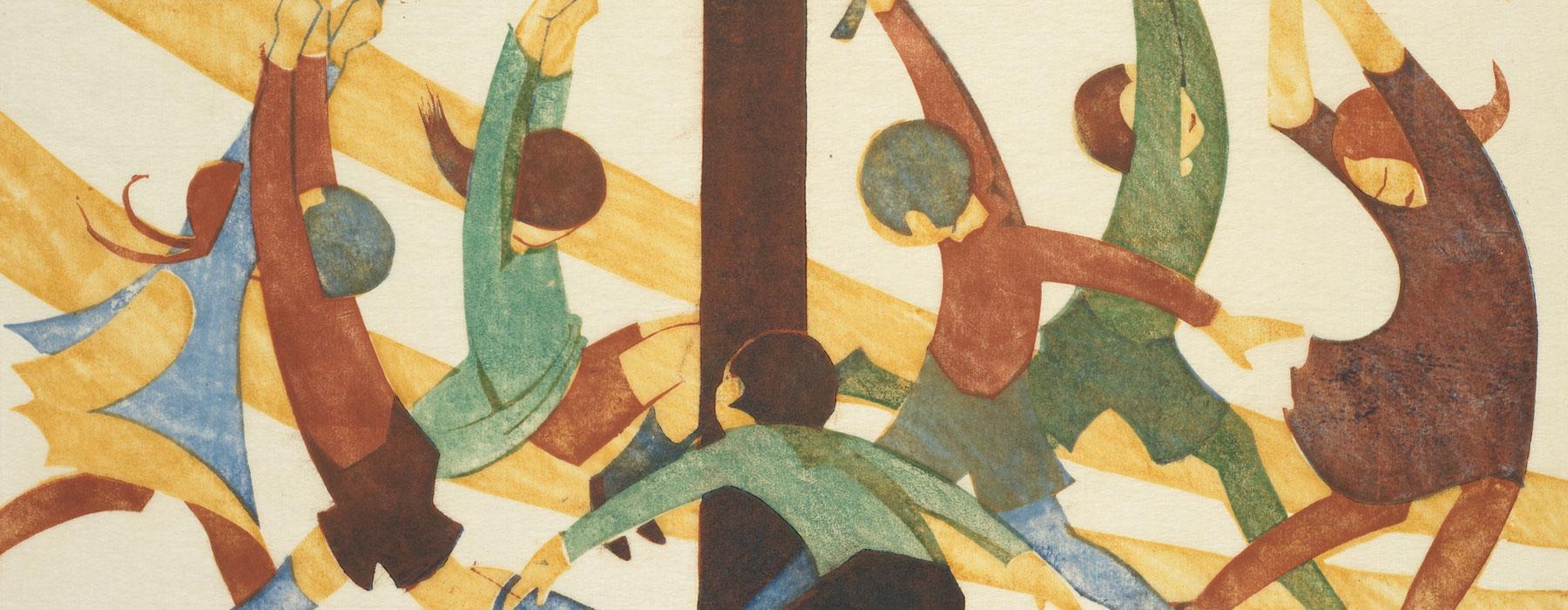 The giant stride, 1933, by Ethel Spowers. Gift of Rex Nan Kivell, 1953. Te Papa (1953-0003-325)