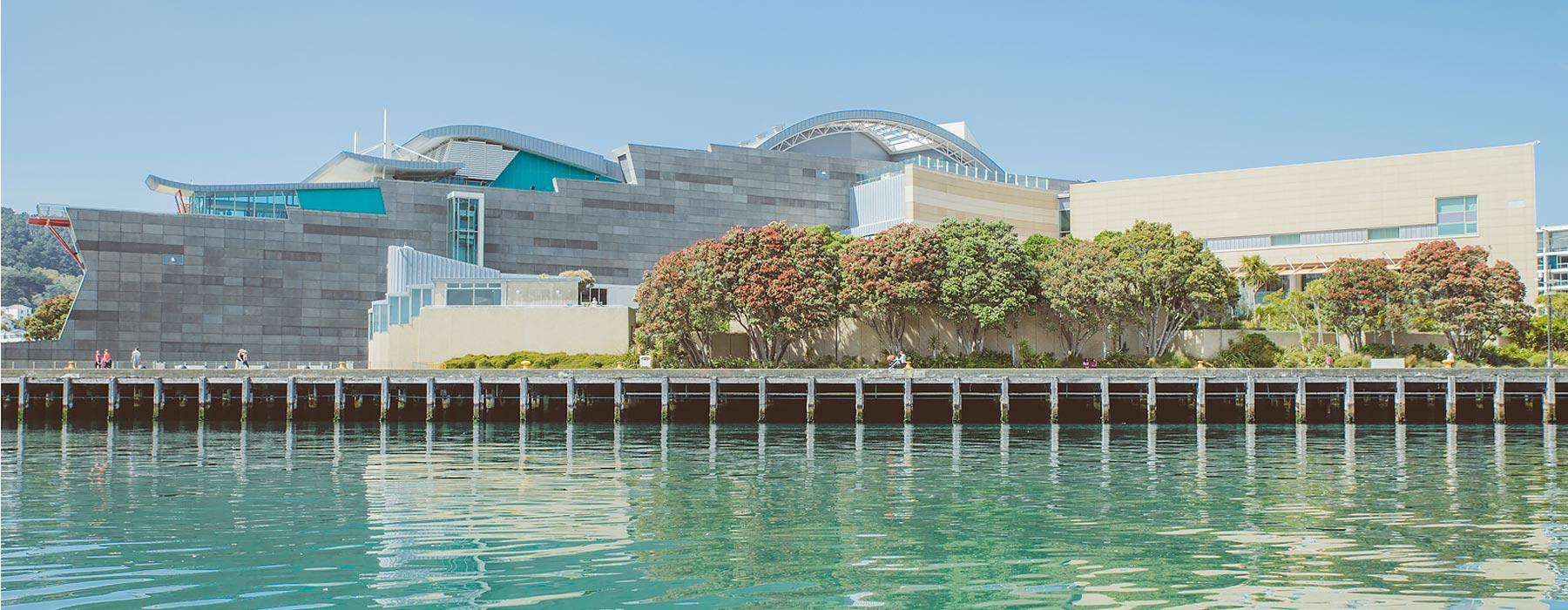 Te Papa from the water. ©Te Papa