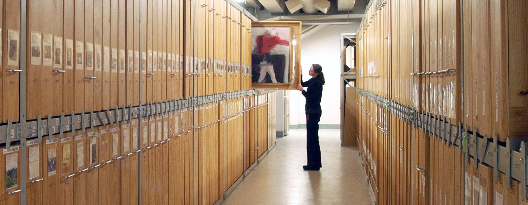 Art Storeroom. Photograph by Michael Hall. Te Papa