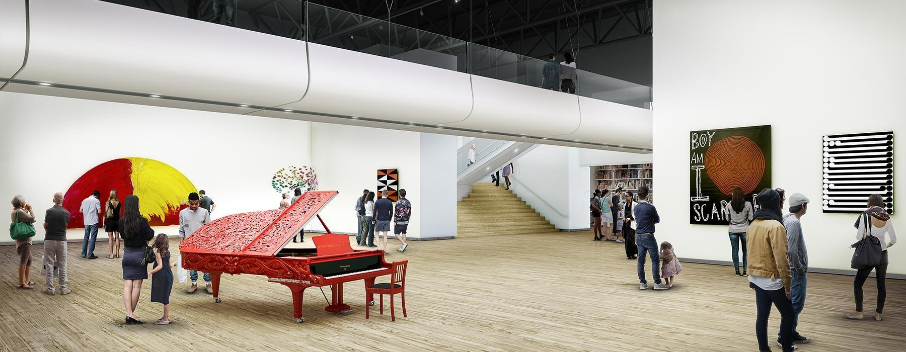 Mock-up image of what the new gallery space will look like