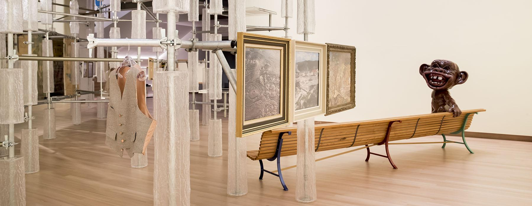 View of 'Détour' exhibition. Photograph by Maarten Holl. Te Papa