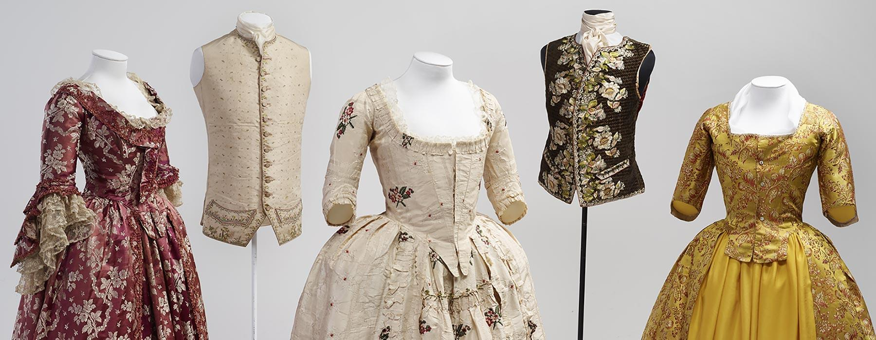 18th century splendour from Te Papa's costume collection. Photograph by Mike O'Neill. Te Papa