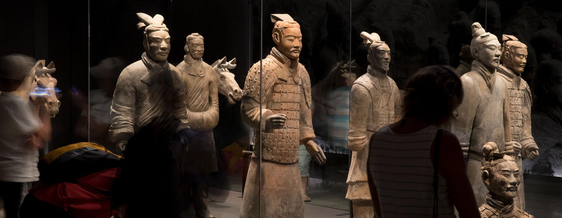 Terracotta Warriors exhibition, 2019. Photo by Maarten Holl. Te Papa