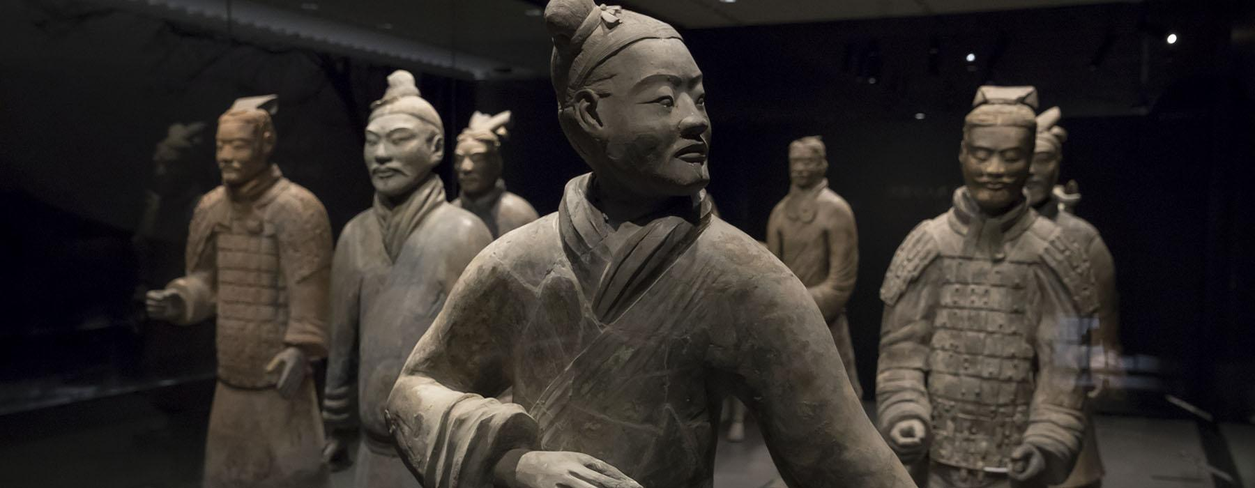 Armoured general, Qin dynasty (221-206 BCE), pottery. Photo by Qiu Ziyu, courtesy of Shaanxi History Museum. Emperor Qin Shihuang's Mausoleum Site Museum (002524)