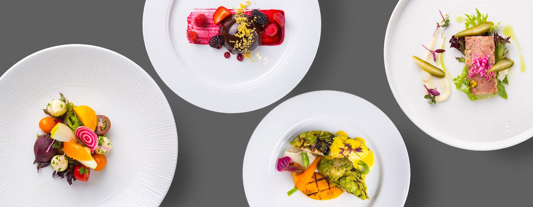 A selection of brightly-coloured meals