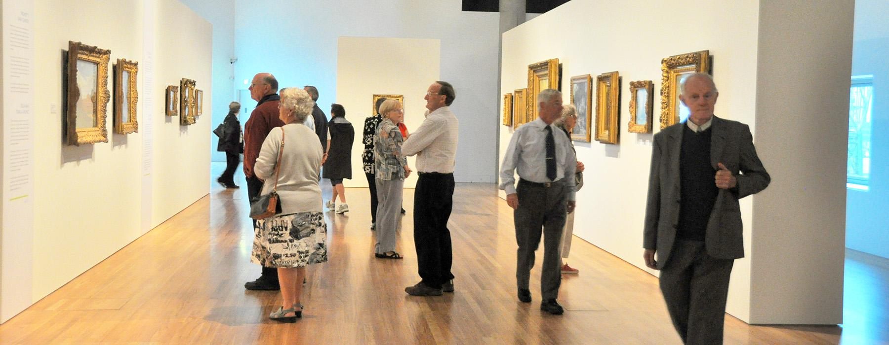 Seniors at an exhibition in Te Papa