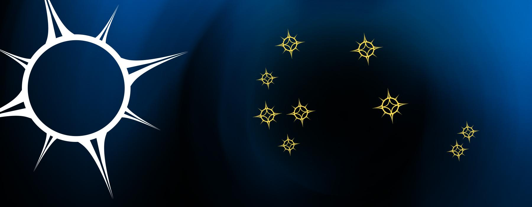 Illustration of the Matariki star cluster