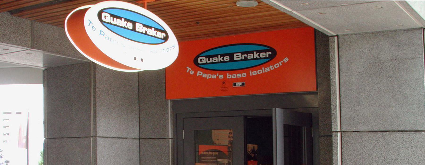Entrance to Quake Braker. Photograph by Jan Nauta. Te Papa