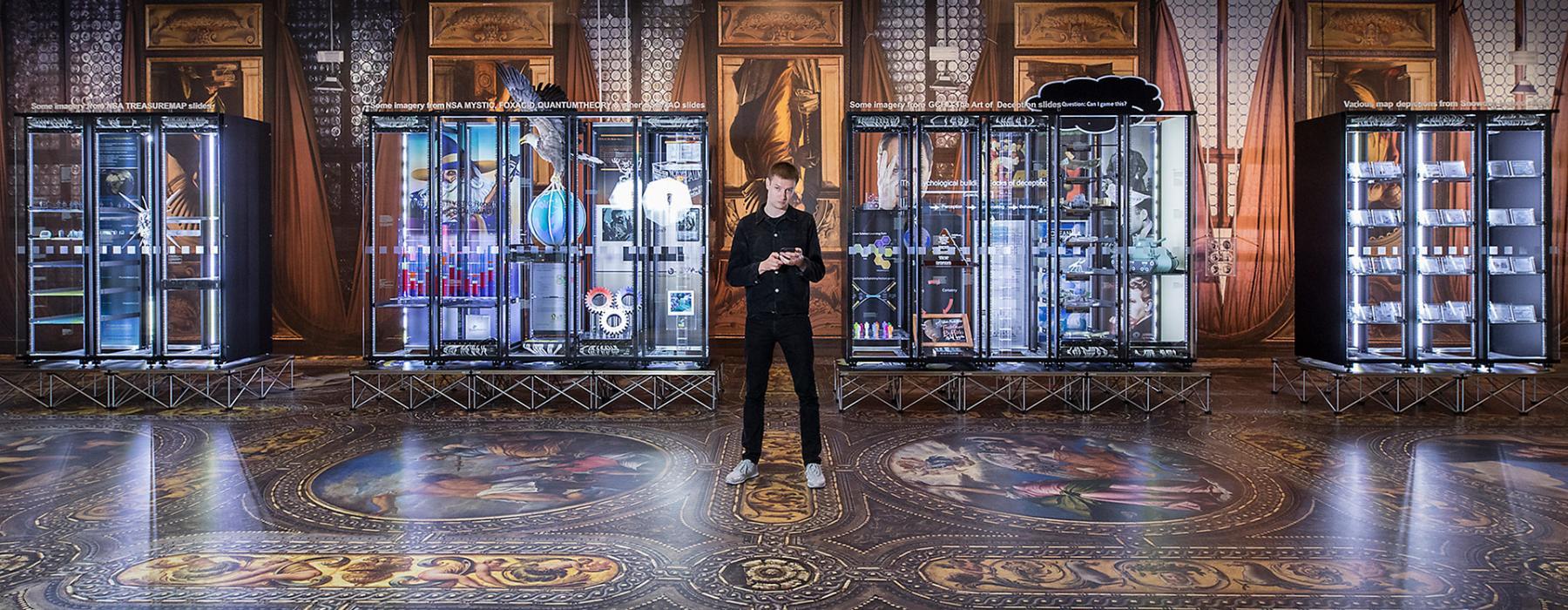 Simon Denny in the exhibition Secret Power
