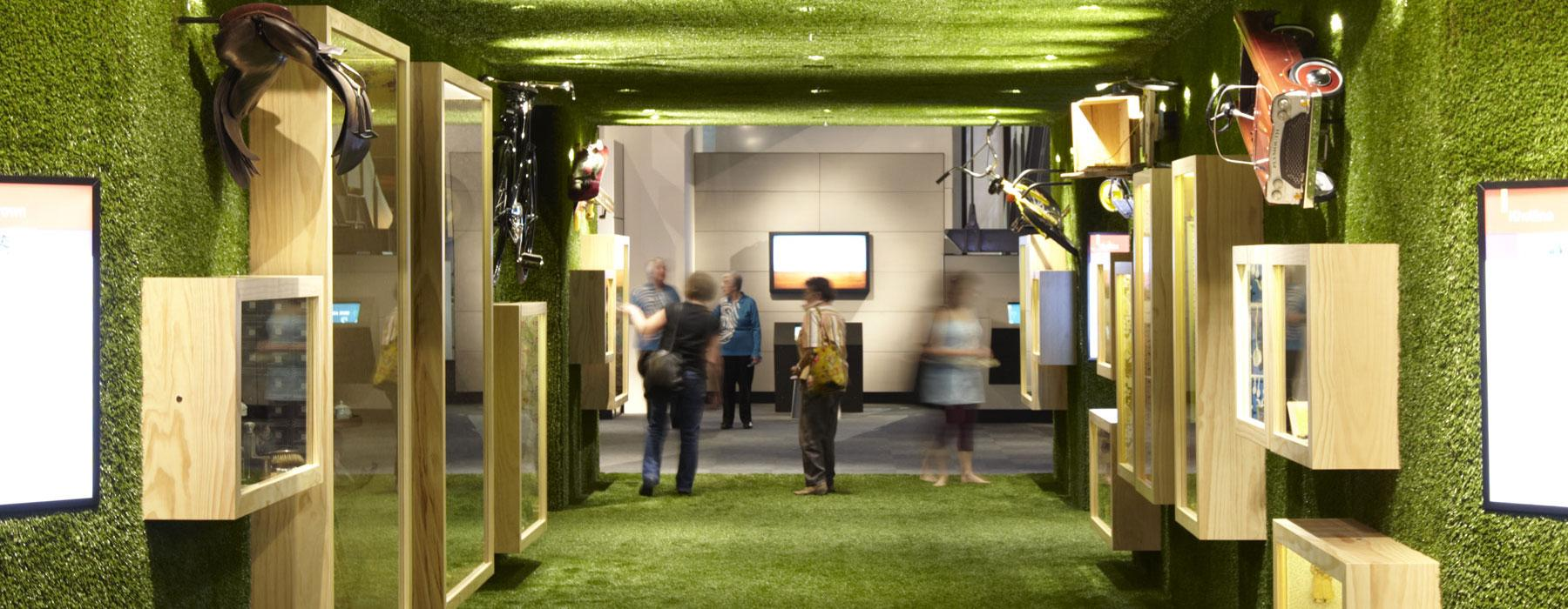 Slice of Heaven exhibition, 2010. Photograph by Michael Hall. Te Papa